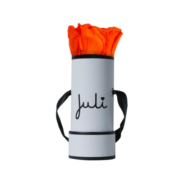 Orange Mini Weiß - rund