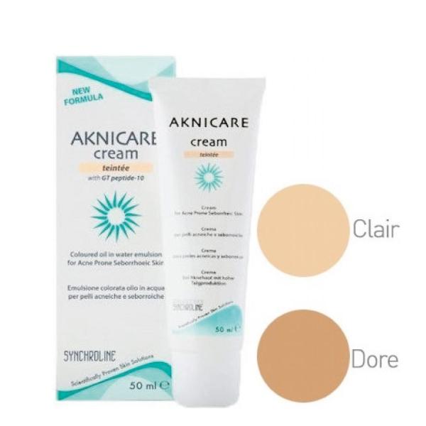 Synchroline Aknicare Cream Teintée Doré(mittel) 50ml