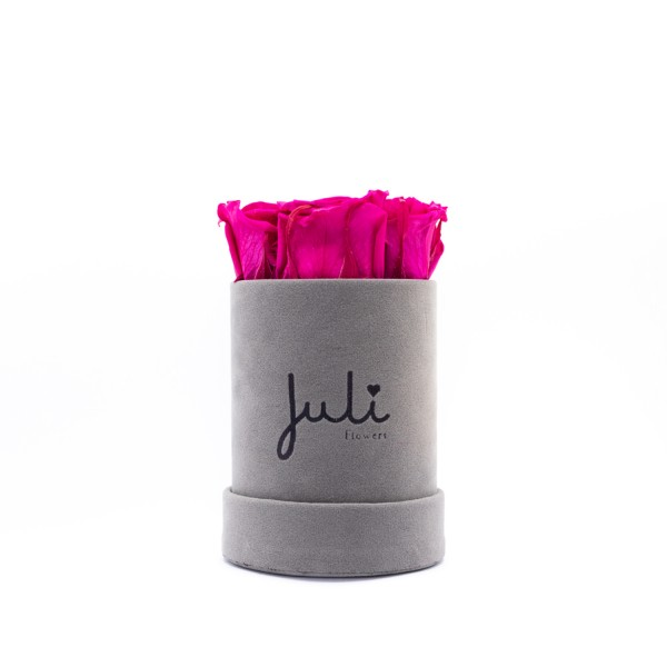 Pink XS Velvet Grau - rund