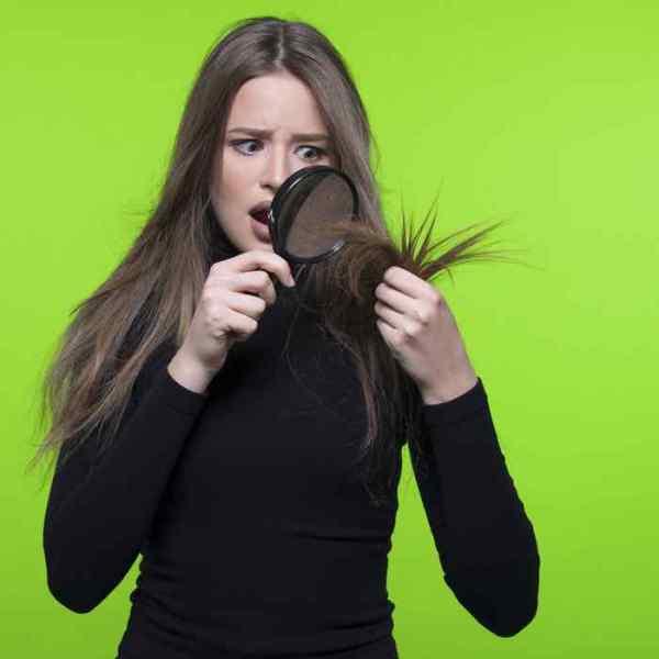 Trockenes-Haar-pflegen