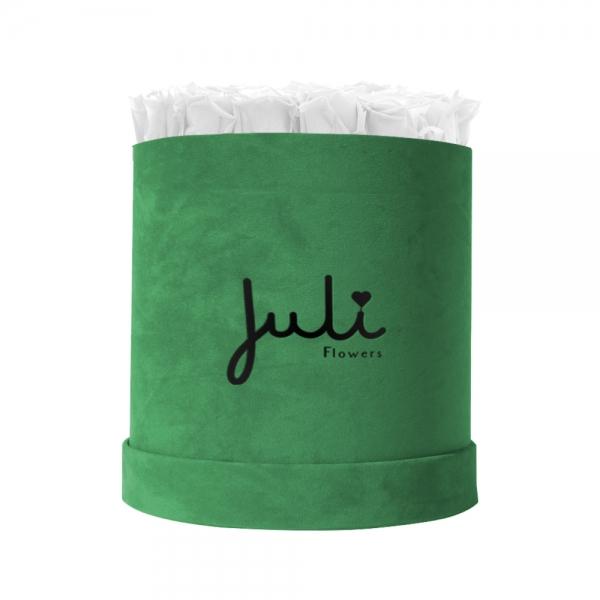 Weiß Big Velvet Grün - rund