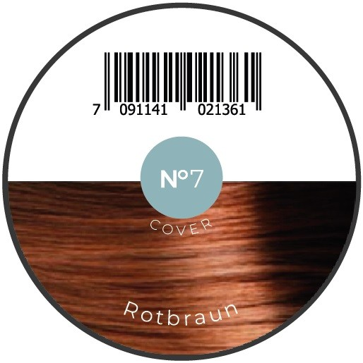 Haarfiber Rotbraun