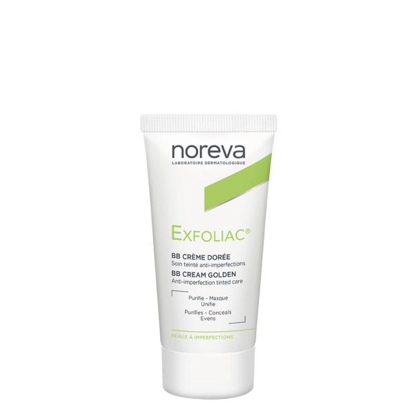noreva Exfoliac getönte Creme dunkler Teint 30ml