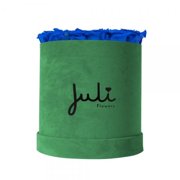 Blau Big Velvet Grün - rund