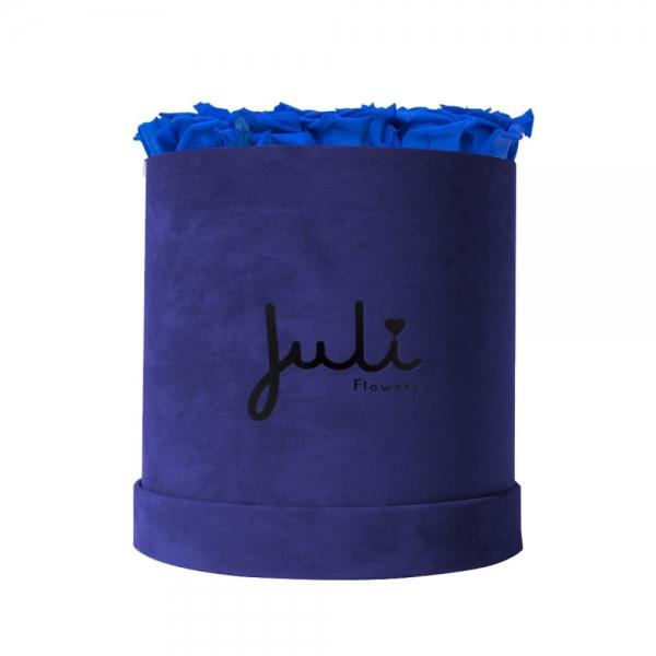 Blau Big Velvet Blau - rund