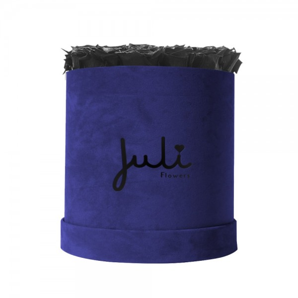 Schwarz Big Velvet Blau - rund