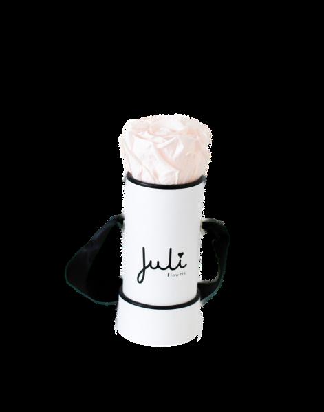 Hellrosa Mini Weiß - rund