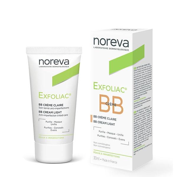 noreva Exfoliac getönte Creme heller Teint 30ml